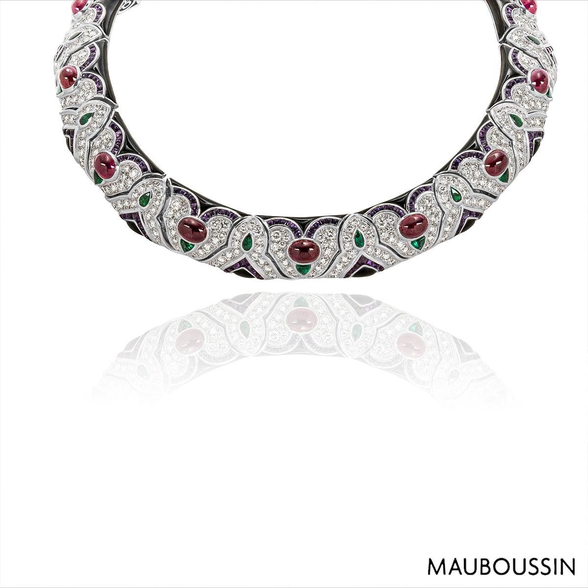 Mauboussin White Gold Multi-Gemstone Necklace